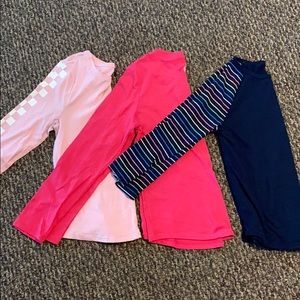 Set of 3 Girls Size L (10/12) Long Sleeved Tops